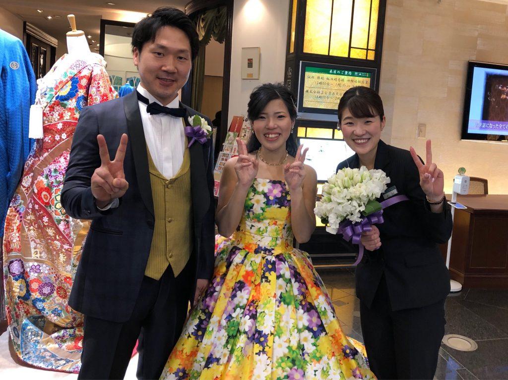 ✿春爛漫✿木瓜の花、満開のなか結婚式を挙げられた先輩新郎新婦