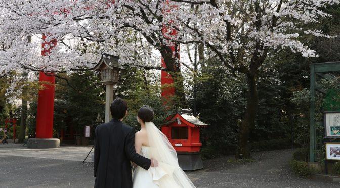 【神社でドレス撮影】ウェディングドレスでも鳥居と一緒に!境内で!撮影を楽しんでみよう♪