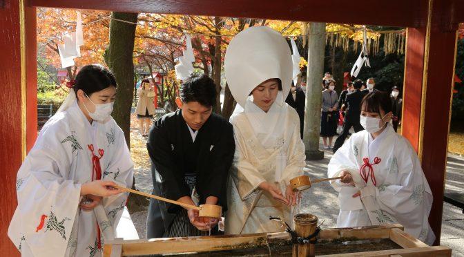 【神社婚❀当日の流れについてご紹介】お隣冠稲荷神社で最高の思い出を私たちと作りましょう♬