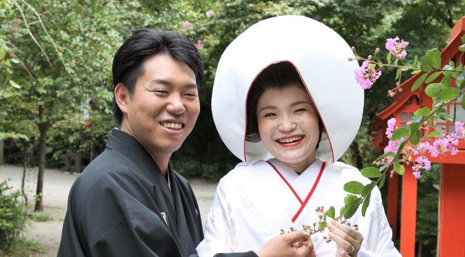 【大人気!!冠稲荷神社での神社婚✿】白無垢に合う髪型ついて❀