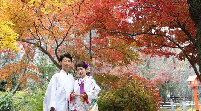 【フォトウェディング✿秋の撮影のご予約承っております!!】大人気紅葉の季節のロケフォト♬