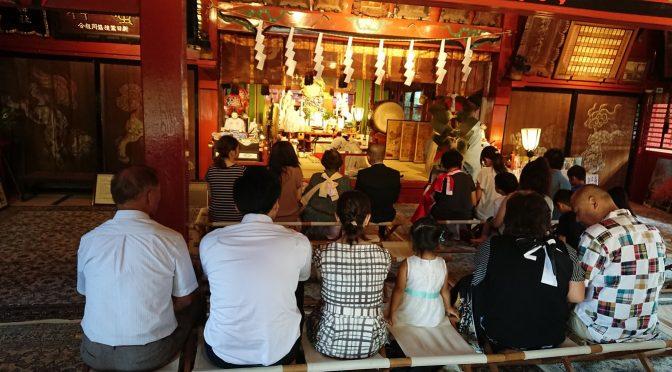 本日の群馬県太田市の最高気温は36℃。そんな中、冠稲荷神社では祗園祭がございました。細谷町内が獅子回しにより厄払いされました!!