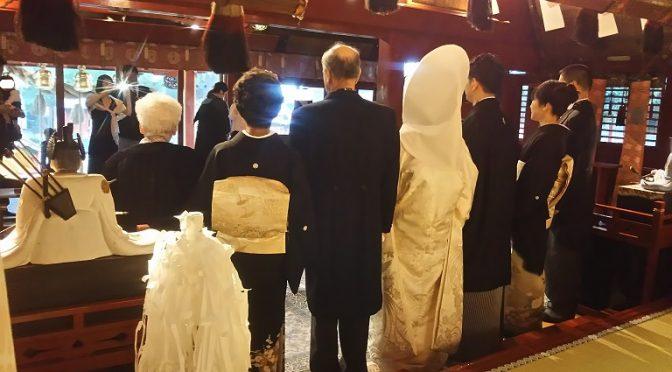 大安吉日の本日は大前神前結婚式、そして初宮や七五三のご祈祷等が執り行われ、沢山のお客様にご来社いただきました^^