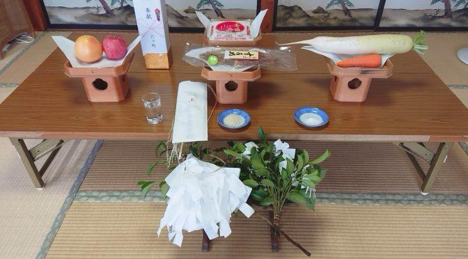 昨日7月1日より全国で中央労働災害防止協会による全国安全週間が始まりました。それに伴い、法人様の安全祈願が大塚宮司のもと執り行われました。また尾島町にあります須賀神社では八丁〆の祭典が行われました。