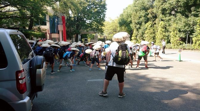 昨年8月にも開催されましたおおた100kmアドベンチャーウォーク2019が本日も行われ、長い道のりを歩いてきた子供たちが冠稲荷神社にて休憩をとっていきました!