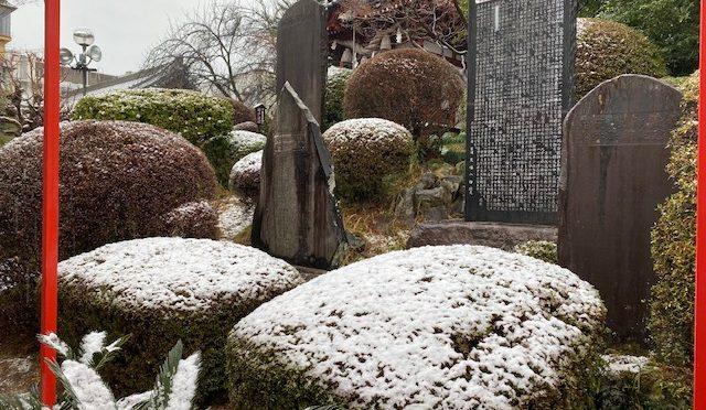 本日、朝から雨です。昨晩は雪が降ったようで、うっすらと積もっていました。朝から降り続いた雨で大部分溶けてしまいましたが・・・。境内はとても寒いです。なので、数日前のまだ少し暖かかった時の境内の様子をお見せしたいと思います(#^.^#)