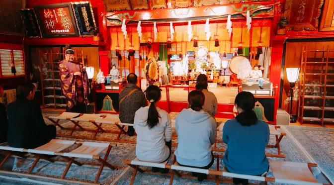 本日は9時より拝殿にて宮中祭祀のひとつ、「祈年祭」が行われました。大塚宮司により無事に祭典は執り納められました。
