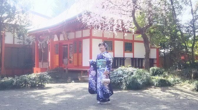 冠稲荷神社の春♪満開の桜の下でのロケーション・フォトがおススメです(^^)