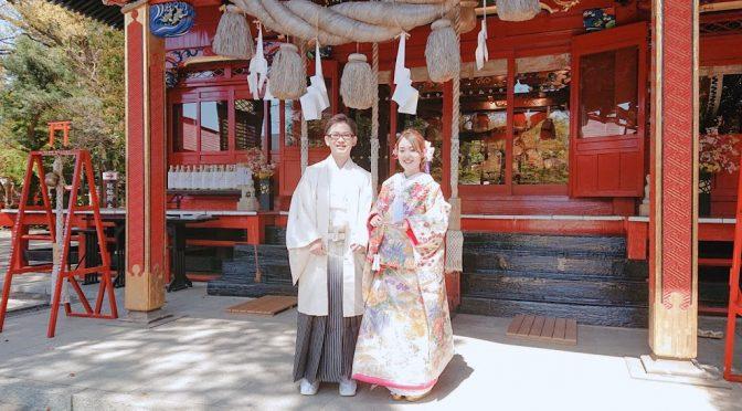今日はなんと貴重な体験をさせて頂きました!!素敵な花嫁さんも見られて幸せな一日でした♪