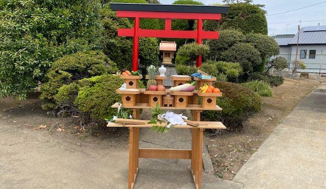 旭化成パックス㈱様にて稲荷宮前の鳥居設置に伴う竣工祭を執り行いました。