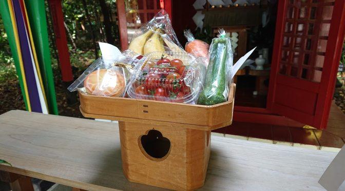 本日は庚申、猿田毘古社と庚申塚にお供え物を供えました!