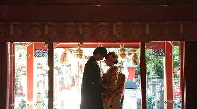 本日は「恋人の日」と言われているそうです!境内ではよくフォトウェディングの撮影が行われています。