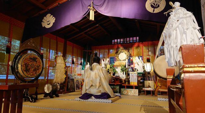 12日(日)の夕刻、第五回目の「本殿改修に伴う寄付者芳名報告祭」が執行されました。