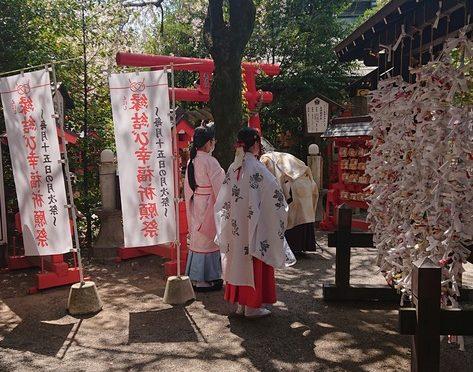 本日は実咲祭が11時より執行されました。