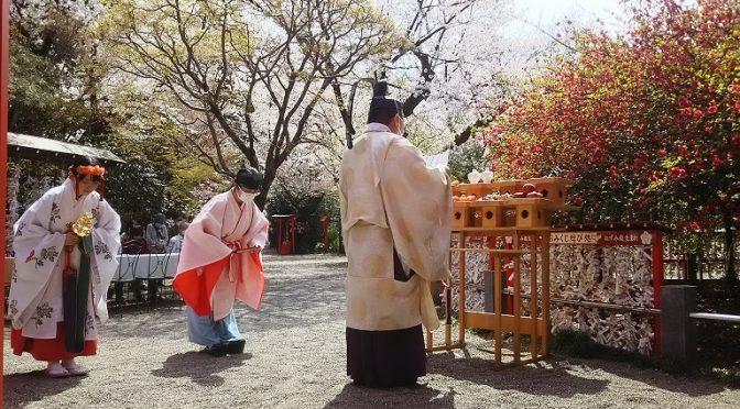木瓜の花の御前にて健康長寿祈願祭、斎行♪