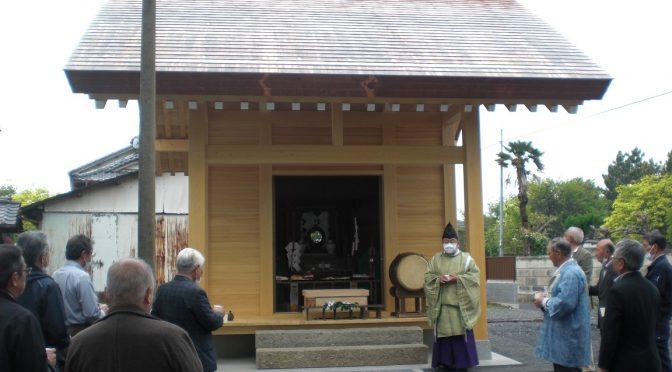牛澤神社さんの社殿 竣工祭に随行して参りました♪